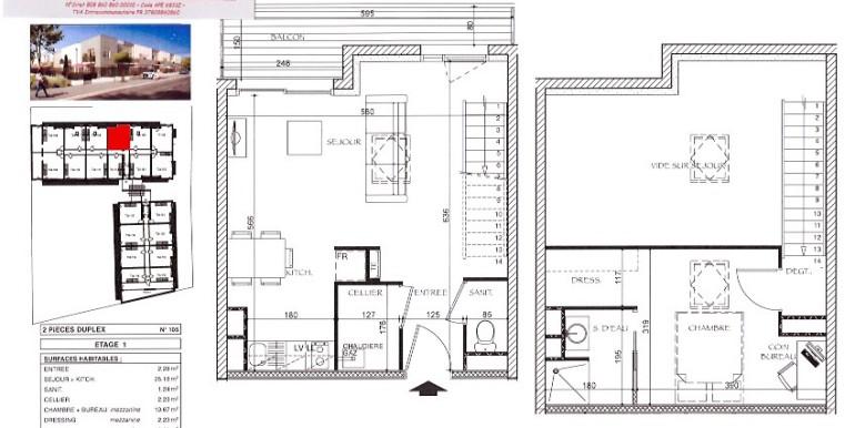 2 Logement T2 duplex